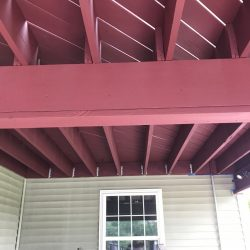 painted rafters